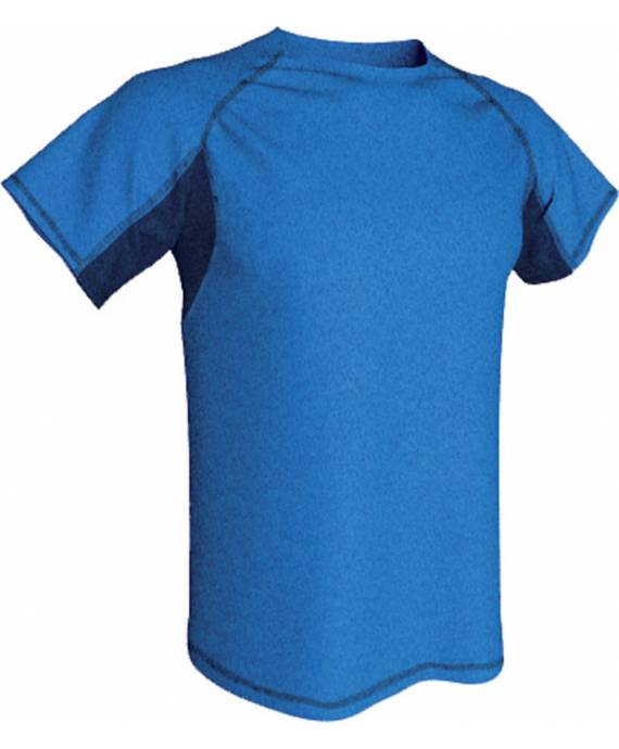 Camisetas Cheviot Combinada poliéster Acqua Royal