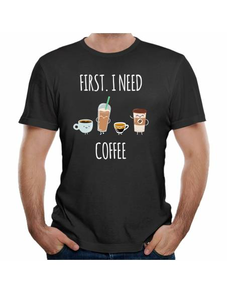 Camisetas I Need Coffee