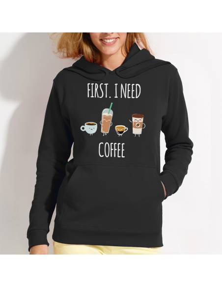 Sudaderas I Need Coffee W
