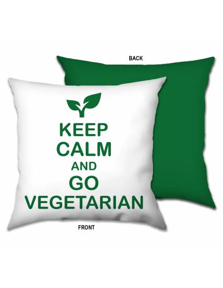 Funda Cojín Keep Calm and Go Vegetarian