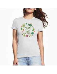 Camisetas Vegan Food W algodón marKamania Factory