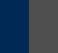 Blanco rayado - Azul